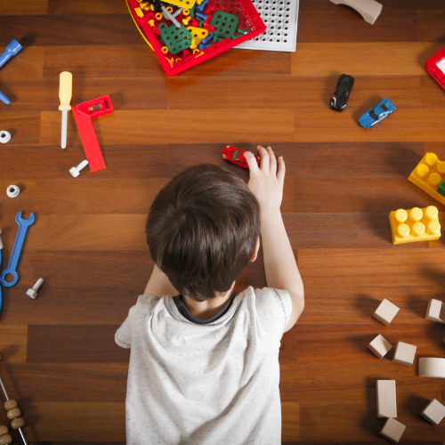 Kid playing with toy cars | Independent Floor Covering