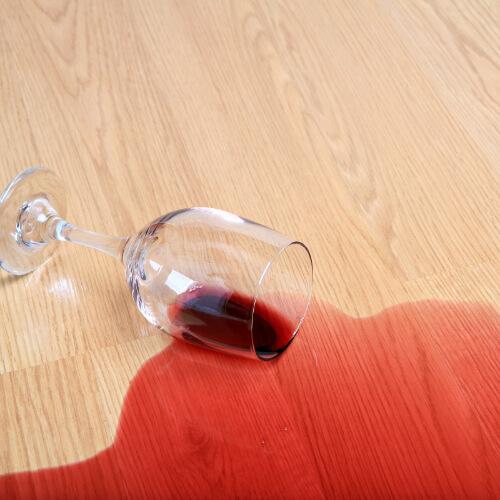 Red wine stain on Laminate floor | Independent Floor Covering