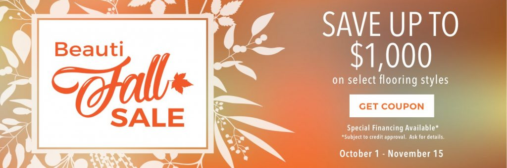 Beautifall sale banner | Independent Floor Covering