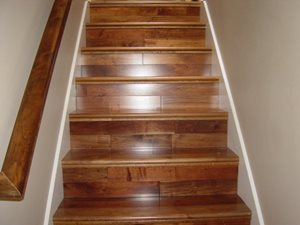 Wood stairs | Independent Floor Covering